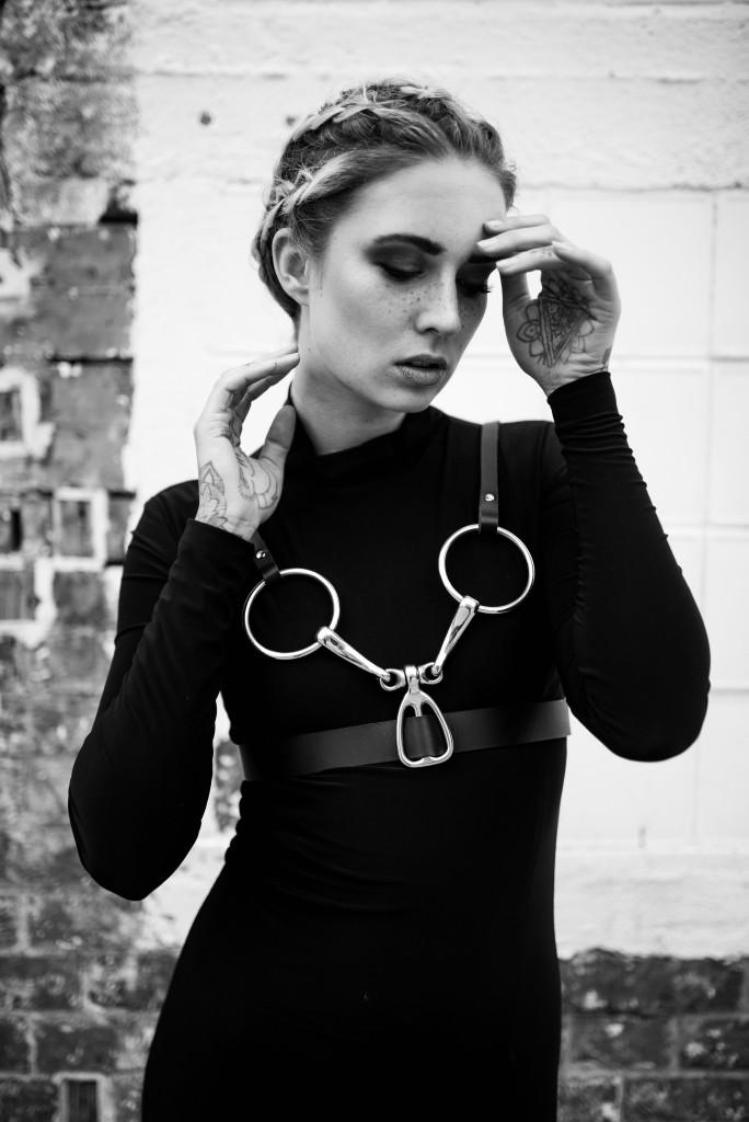 Photo: Nicola Rehbein // Model: Scarlett Simonheit // Hair & Makeup: Teresa Hofmeister // Clothing: IMON Leather & Jade Helene Shimmin // Shop: Level Eight Berlin